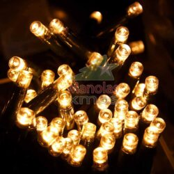 100 LED Θερμά Λευκά Καουτσούκ με επέκταση