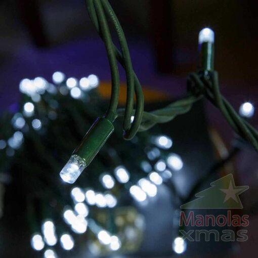 100 LED Ψυχρά Λευκά από Καουτσούκ με επέκταση