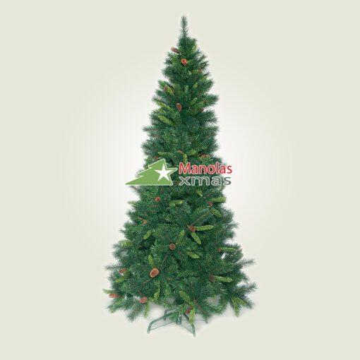 Χριστουγεννιάτικο δέντρο SMOKY σαν αληθινό, 1.80μ Slim