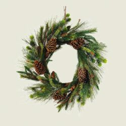 Χριστουγεννιάτικο στεφάνι σαν αληθινό, 60cm