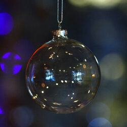 Μπάλα διαφανής, γυάλινη, διαμέτρου 9cm