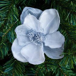 Λουλούδι λευκό - ασημί