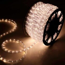LED Φωτοσωλήνας λευκός θερμός, κουλούρα 48μ