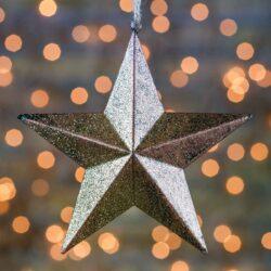 Χριστουγεννιάτικο αστέρι χρυσό 15cm
