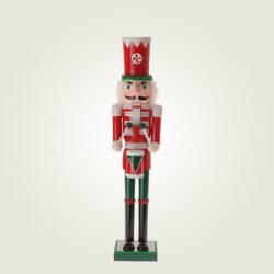 Καρυοθραύστης ξύλινος, κόκκινος, 38cm