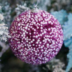 Μπάλα χιονέ φούξια, διαμέτρου 10cm