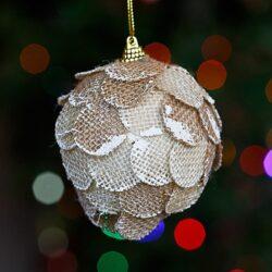 Μπάλα οικολογική από λινάτσα, 10cm