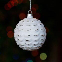 Μπάλα γυάλινη κουκουνάρι, 8cm