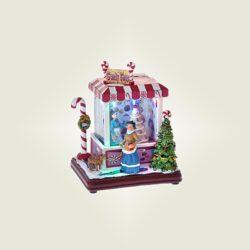 Σπιτάκι Candy Shop με φως, ύψους 15cm