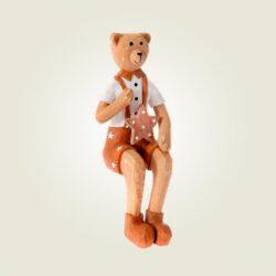 Ξύλινος αρκούδος καθιστός 19cm