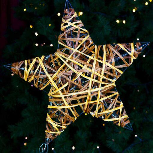 Διακοσμητικό αστέρι με LED μπαταρίας, μήκους 30cm