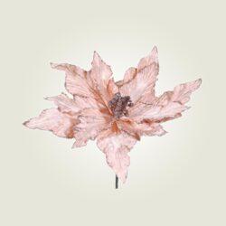 Χριστουγεννιάτικο λουλούδι ροζ, ύψους 25cm