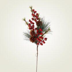 Κλαδί με κόκκινα berries, 65cm