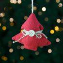 Χριστουγεννιάτικο δεντράκι κόκκινο, ύψους 11cm