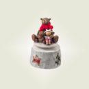 Μουσικό κουτί με αρκούδα και παιδάκια, ύψους 16cm