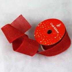 Kορδέλα κόκκινη με στρας, 6.5cm