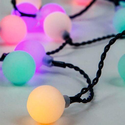 80 LED με παλ χρωματιστές μπαλίτσες και Μετασχηματιστή