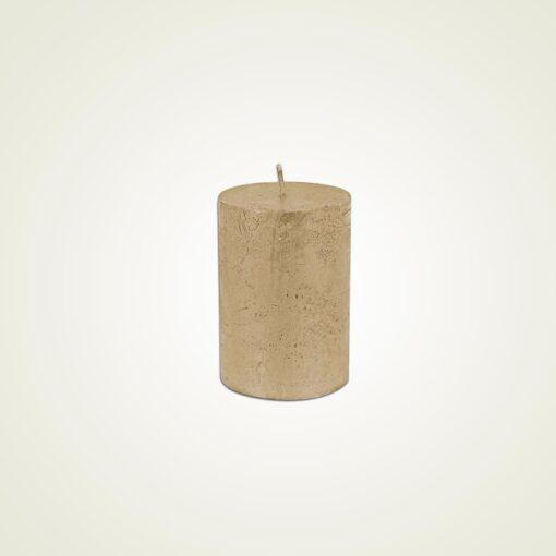 Κερί κορμός ρουστίκ μεταλλικό σαμπανί