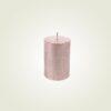 Κερί κορμός ρουστίκ μεταλλικό ροζ