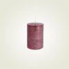 Κερί κορμός ρουστίκ μεταλλικό μπορντώ