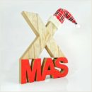 Ξύλινο, επιτραπέζιο διακοσμητικό XMAS, ύψους 24cm