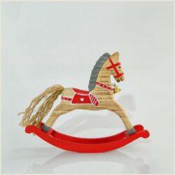 Ξύλινο αλογάκι με βάση, μήκους 18cm