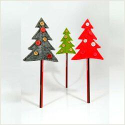 Χριστουγεννιάτικο μολύβι με δεντράκι, ύψους 11cm