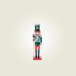 Καρυοθραύστης ξύλινος, πράσινος, 12cm