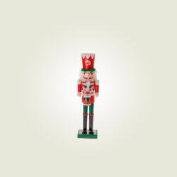 Καρυοθραύστης ξύλινος, κόκκινος, 12cm