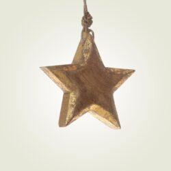 Αστέρι ξύλινο κρεμαστό, ύψους 14cm