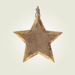 Αστέρι ξύλινο κρεμαστό, ύψους 18cm
