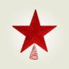 Κορυφή αστέρι κόκκινη, ύψους 30cm