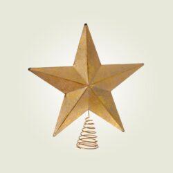 Κορυφή αστέρι χρυσή, ύψους 30cm