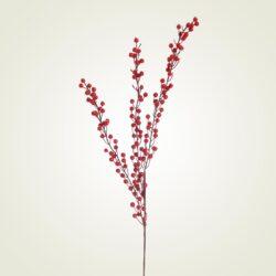 Κλαδί με κόκκινα μπιλάκια, 80cm