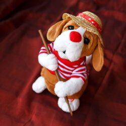 Σκυλάκι γονδολιέρης με μουσική και κίνηση, ύψους 31cm