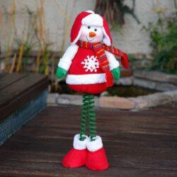 Χιονανθρωπάκι με κασκόλ και καπέλο, ύψους 60cm