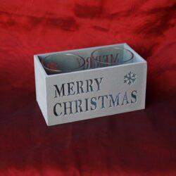 Κηροπήγιο για 2 ρεσώ Merry Christmas