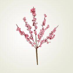 Διακοσμητικό κλαδί ροζ, ύψους 42cm
