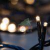 144 LED Βροχή με πράσινο καλώδιο και Θερμό Λευκό λαμπάκι