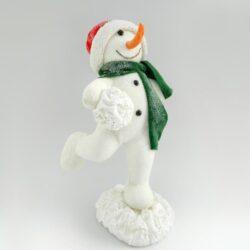 Χιονάνθρωπος σε στάση χιονοπόλεμου, ύψους 44cm