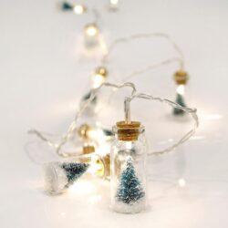 10 LED Μπαταρίας σε μπουκαλάκια με δέντρο