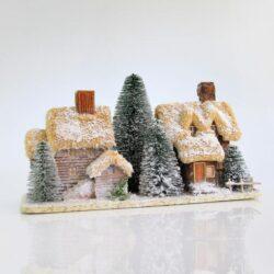 Σπιτάκια διακοσμητικά, χάρτινα, φωτιζόμενα, μήκους 48cm