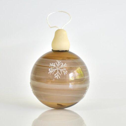 Μπάλα καφέ με νιφάδες, διαμέτρου 8cm