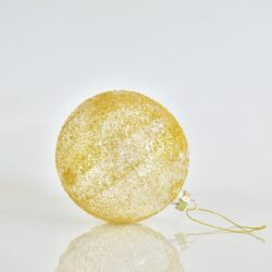 Μπάλα χρυσή διάφανη ανάγλυφη, διαμέτρου 12cm