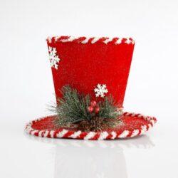 Καπέλο υφασμάτινο κόκκινο, ύψους 18cm