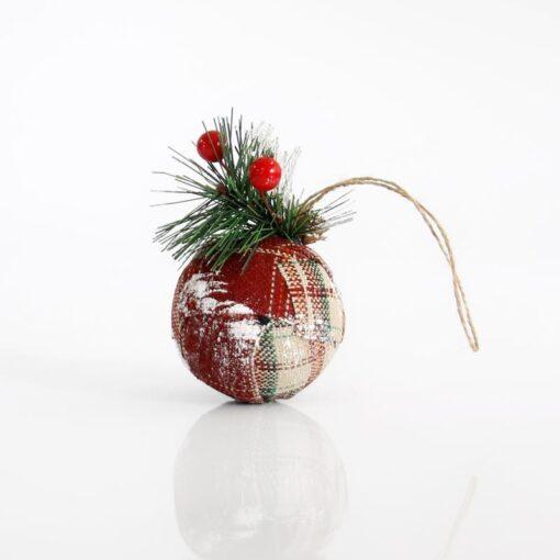 Μπάλα υφασμάτινη καρό, 7cm