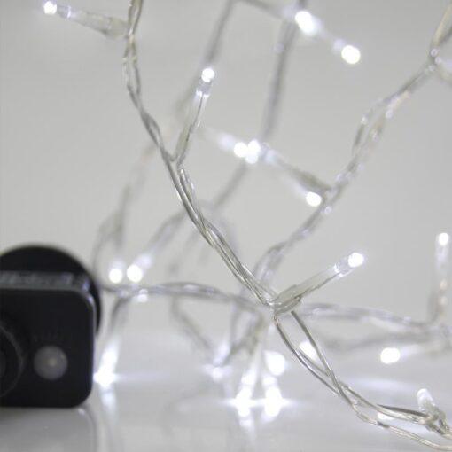 100 Ψυχρά Λευκά LED εξωτ. χώρου με πρόγραμμα και Μετασχ/τή
