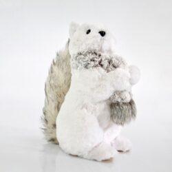 Σκιουράκι λευκό με κασκόλ, ύψους 29cm