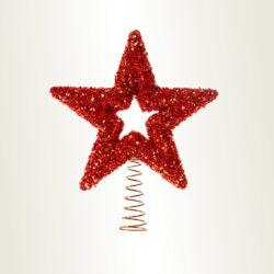 Κορυφή αστέρι κόκκινη, ύψους 22cm