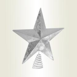 Κορυφή αστέρι ασημί, ύψους 30cm